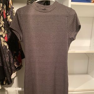 Fitted High Neck TShirt Dress